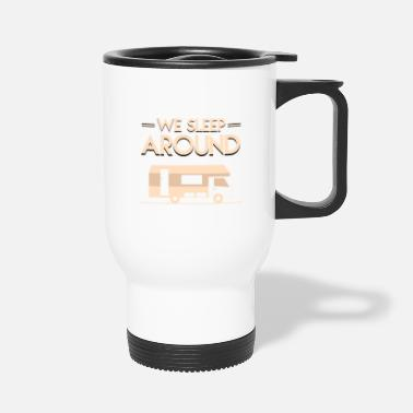 Caravan Motorhome Sleep Around Caravan - Travel Mug