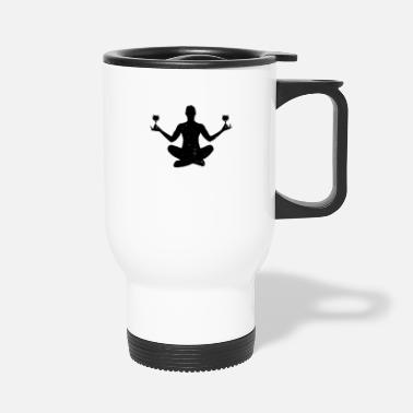Meditation Wine Yoga Meditation - Travel Mug