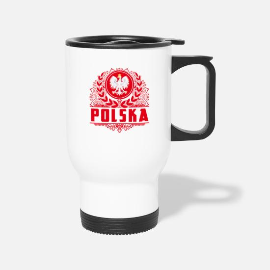 Polish Mugs & Drinkware - Polska Shirt Polish Eagle - Travel Mug white