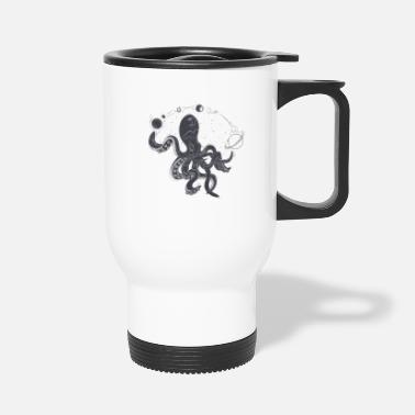 octopus and space - Travel Mug