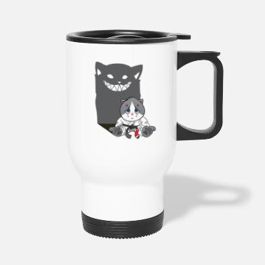 Naive T-shirt - Brazilian Jiu-jitsu Don't mess with a naive cat - Travel Mug