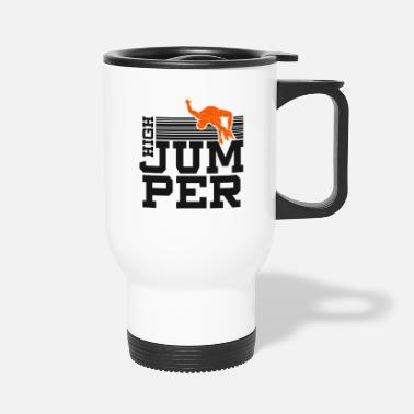 Pole High jumper high jump pole vault gift - Travel Mug