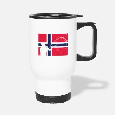 Norway Norway Norwegian flag national colours gift fishin - Travel Mug