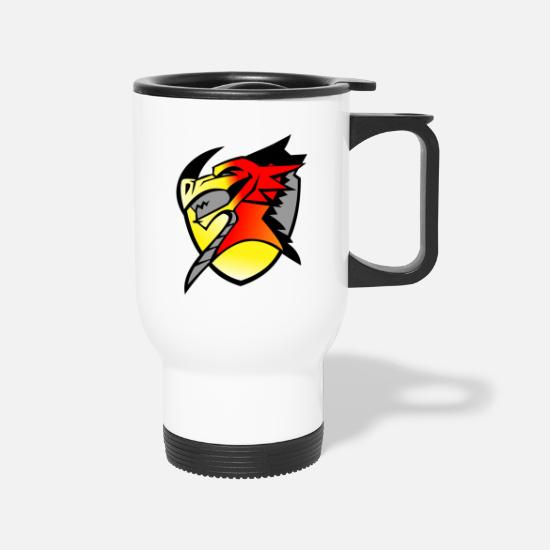 Dragon Head Mugs & Drinkware - devil dragon - Travel Mug white
