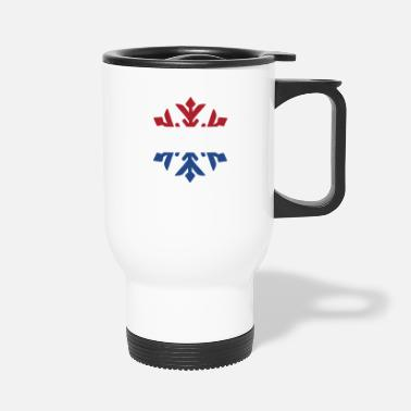 Netherlands Netherlands Flag Winter Snowflake Design - Travel Mug