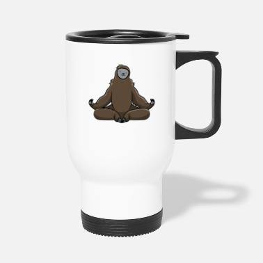 Funny Yoga Sloth Sloths Lovers Funny and Cute Gift - Travel Mug