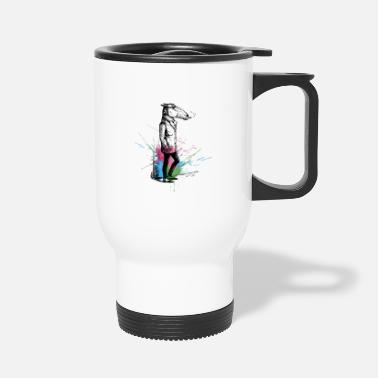 Smoking Smoking Horse Color Splashes - Travel Mug
