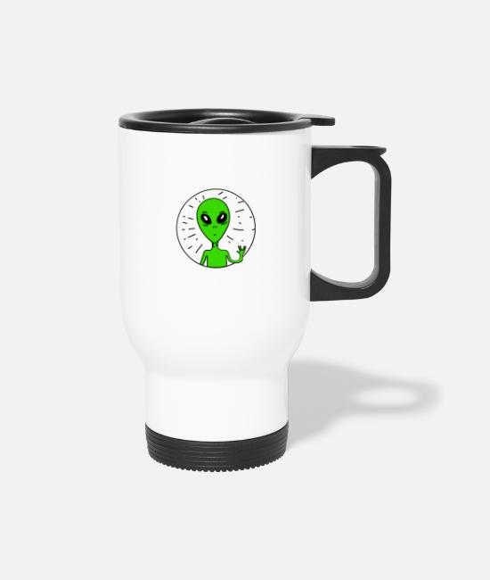 Kids Mugs & Drinkware - Weird Alien - Travel Mug white