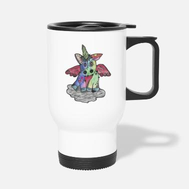 Heavy Metal Punk Metal Unicorn - Travel Mug