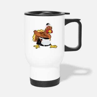 Marathon Turkey pilgrim hat costume cute Thanksgiving gift - Travel Mug