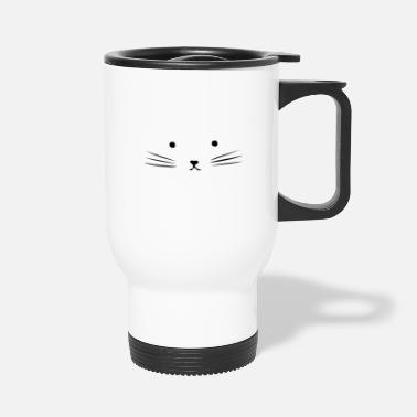 Cat Face cat face - Travel Mug