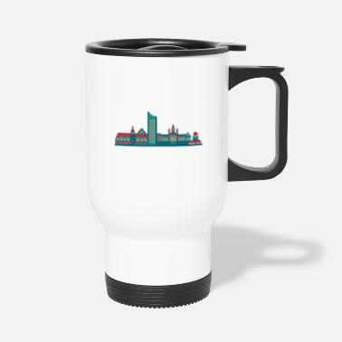East Germany City of Leipzig skyline east germany - Travel Mug