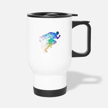 Sprinting Track and Field Sprinter - Travel Mug