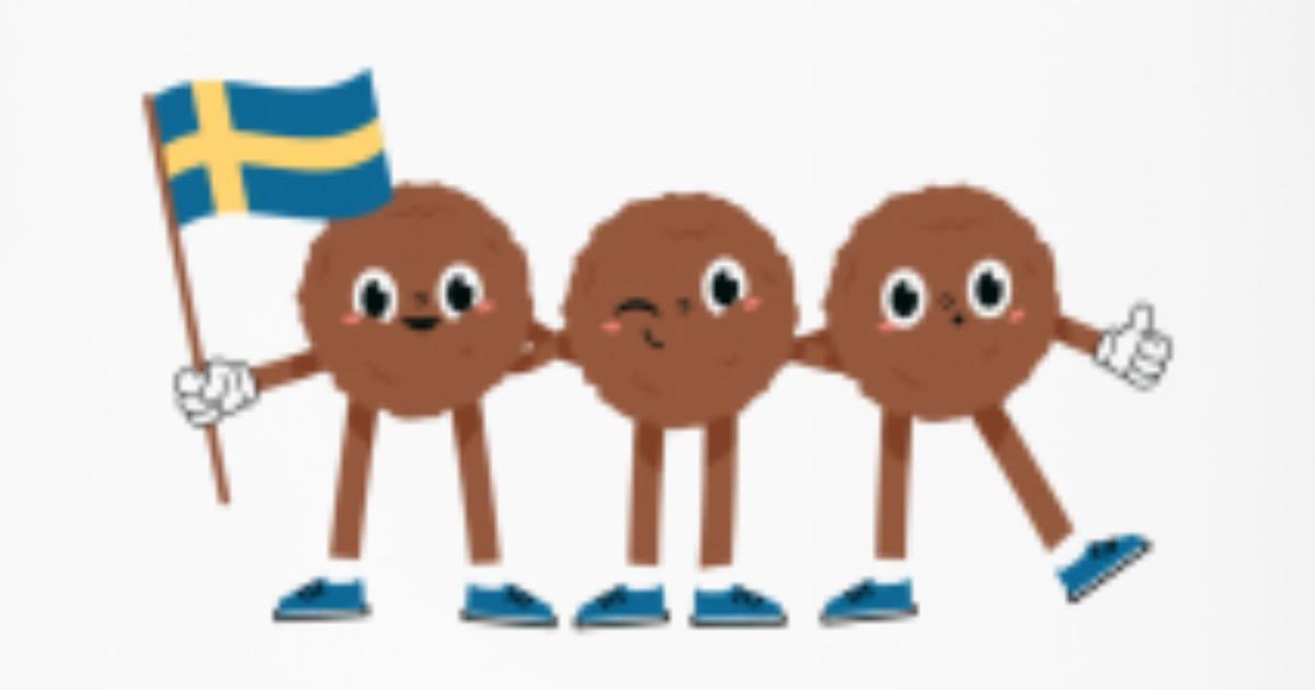 Swedish Meatballs With Swedish Flag Funny Sweden Travel Mug Spreadshirt