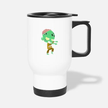 Just Halloween costumes children with motif - Travel Mug