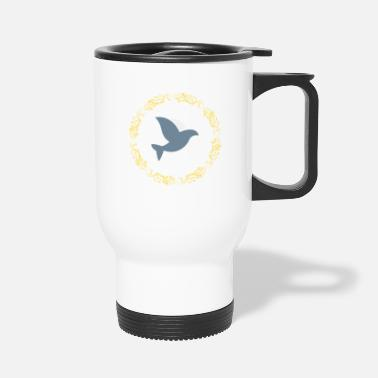 Beak Wisp Gold Hope Dove - Travel Mug