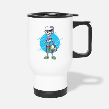 Skeleton Skeleton Volleyball Beach Ball - Travel Mug