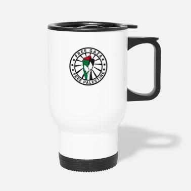 Strip Free Gaza Free Palestine Palestinian Gaza Strip - Travel Mug