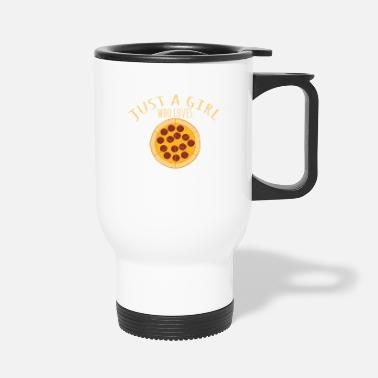 Evening Just A Girl Who Loves Pizza Pepperoni - Travel Mug