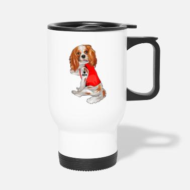 King Funny cavalier king charles spaniel Dog I Love Mom - Travel Mug