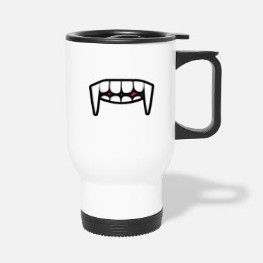 Nose face mask mask face tooth mouth - Travel Mug