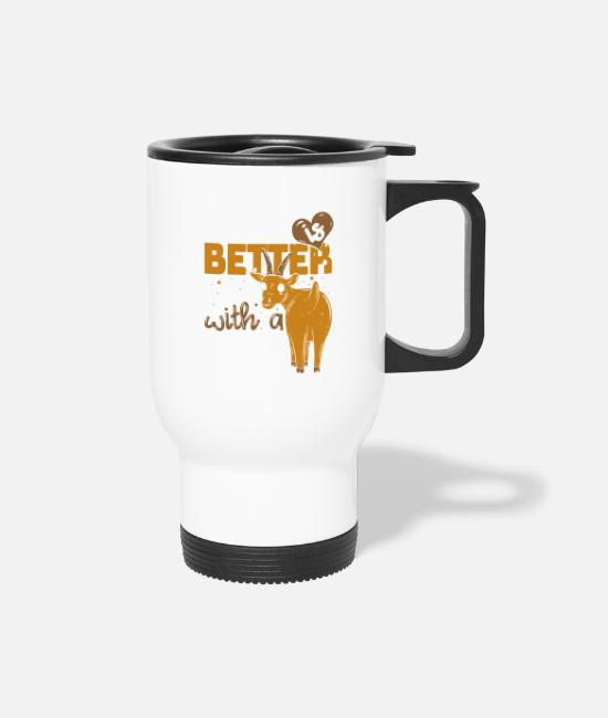 Farmers Life Mugs & Cups - Life Is Better With A Cow - Goat - Travel Mug white