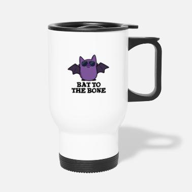 Animal Bat To The Bone Cute Animal Pun - Travel Mug