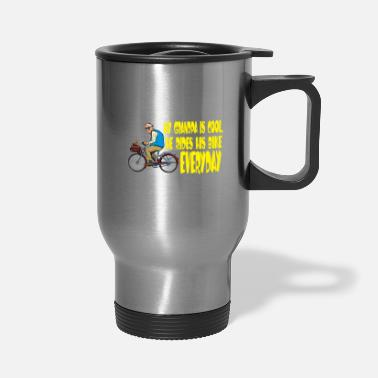 Bmx Grandfather My Grandfather is a cool cicyler & biker / gift - Travel Mug