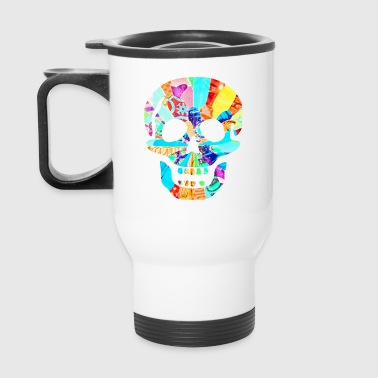 artTS SCARY BIG NEON SKULL multi - Travel Mug