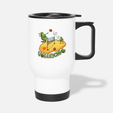 Avocardio Volleycado Avocado Volleyball I Volleyball player - Travel Mug