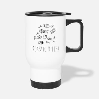 Planetcontest Plastic Kills - Waste Fish - Travel Mug