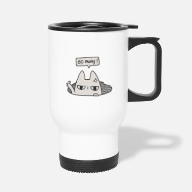 Felix Go Away! - Introvert Cat in a Hole - Travel Mug