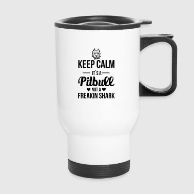 Pitbull prejudice fighting dog dangerously snappy - Travel Mug