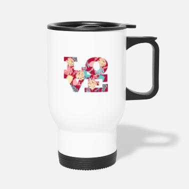 Bloom Love fun flowers plants Valentine's Day - Travel Mug