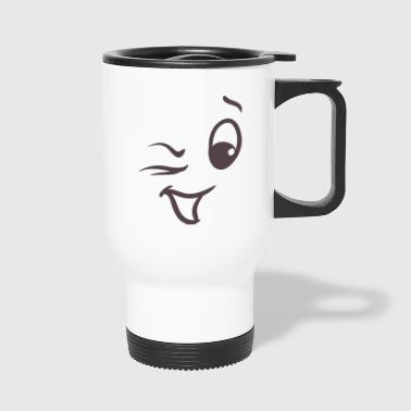 Winking face - Travel Mug