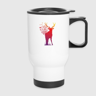 Ambient Butterfly Dispersion Elk - Travel Mug