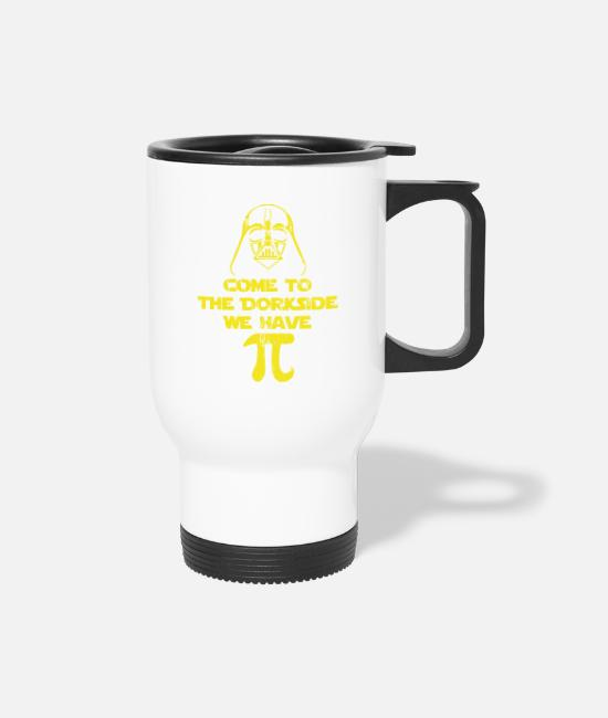 Come Mugs & Cups - Come to the Dorkside we have pi - Travel Mug white