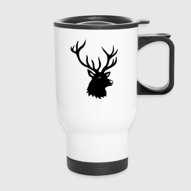 stag deer moose elk antler antlers horn horns buck - Travel Mug