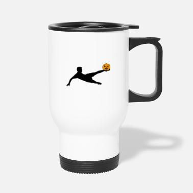 Volley Halloween Soccer Player Volley - Travel Mug