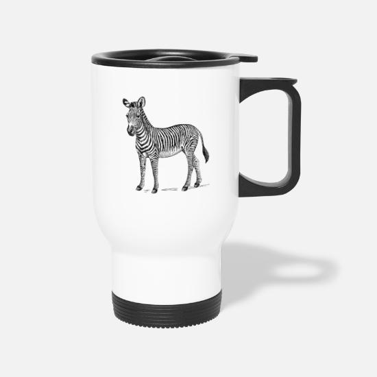 Zebra Mugs & Drinkware - Zebra - Travel Mug white
