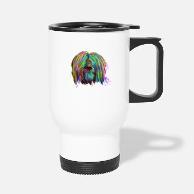 Colored Briard Dog - Travel Mug