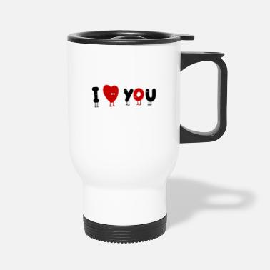 I Heart i heart you - Travel Mug