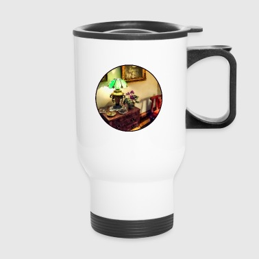 Cozy Parlor with Flower P - Travel Mug