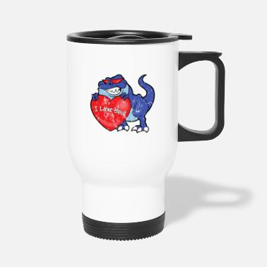 Engagement Retro Vintage Grunge Style Valentine's Day - Travel Mug