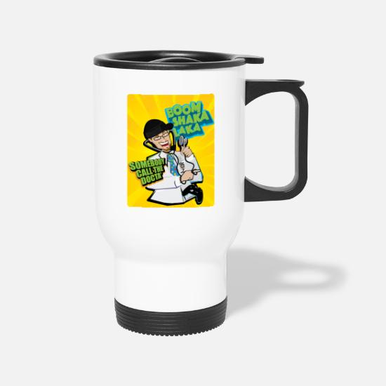 Boom Mugs & Drinkware - Boom Shaka Laka Kids Premium Shirt - Travel Mug white