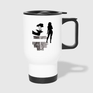 romantic rose tee - Travel Mug