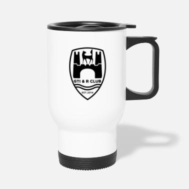 Golf GTI & R Club Logo Black - Travel Mug