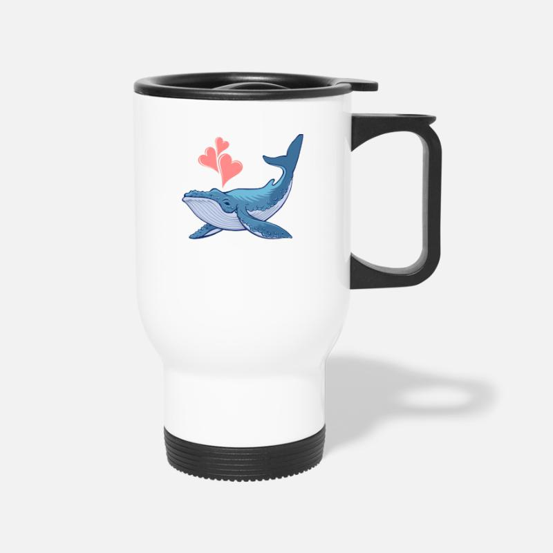 Kids Mugs & Drinkware - Whale Love - Travel Mug white