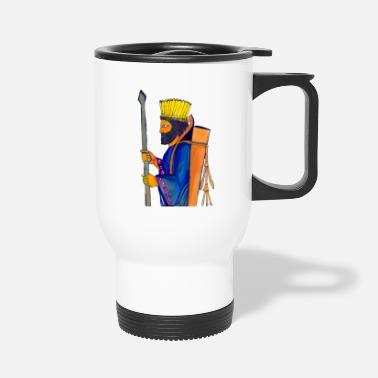 A Persian Guard watercolor painting - Travel Mug