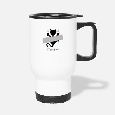 Cat Art cat art - Travel Mug